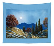 Mountain Moonrise Tapestry