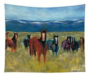 Mustangs In Southern Colorado Tapestry