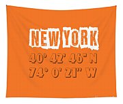 New York Coordinates Tapestry