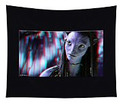 Neytiri - Use Red And Cyan 3d Glasses Tapestry