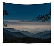 Misty Blue Shades Of Generals Highway 1 Tapestry
