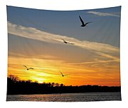November Sunset Tapestry