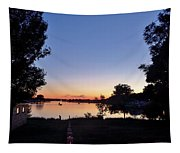 Obear Park And The Danvers River At Sunset Tapestry