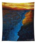 Ocean Sunset Tapestry