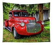 Old Chevy Truck Tapestry
