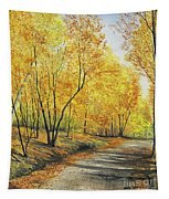 On Golden Road Tapestry