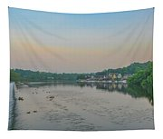 On The Schuylkill River At Boathouse Row - Philadelphia Tapestry