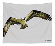 Osprey Looking For Lunch Tapestry