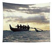 Outrigger Canoe Tapestry