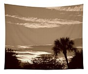 Palms In The Clouds Tapestry