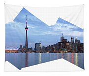 Panorama Of The City Of Toronto Tapestry