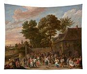 Peasants Dancing And Feasting Tapestry