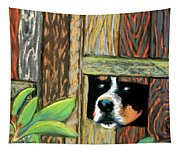 Peek-a-boo Fence Tapestry
