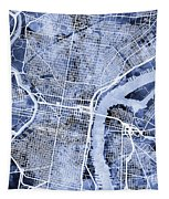 Philadelphia Pennsylvania City Street Map Tapestry