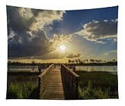 Pine Glades Sunset Tapestry
