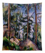 Pines And Rocks Tapestry