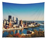 Pittsburgh Skyline Tapestry