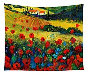 Poppies In Tuscany Tapestry