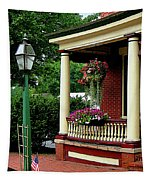 Porch With Hanging Plants Tapestry