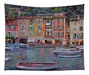 Portofino Al Crepuscolo Tapestry