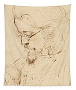 Portrait Of Samuel Palmer Head And Shoulders Tapestry