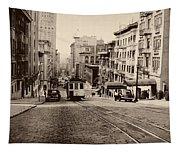 Powell Street Hill - San Francisco 1945 Tapestry