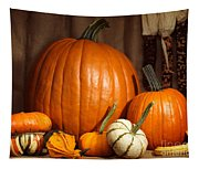 Pumpkins And Gourds Still Life Tapestry