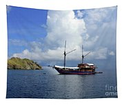 Silent Diving Bay On The Coast Of Sulawesi Tapestry