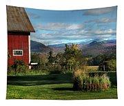 Red Barn In Newbury Vermont Tapestry