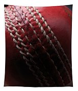 Red Cricket Ball Tapestry