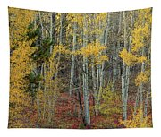 Red Forest Floor Tapestry