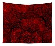 Red Fractal 051910 Tapestry