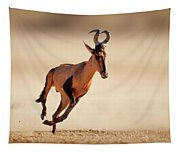 Red Hartebeest Running Tapestry