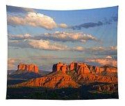 Red Rocks Sunset Tapestry
