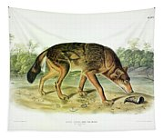 Red Texan Wolf Tapestry