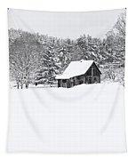 Remote Cabin In Winter Tapestry