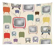 retro TV pattern  Tapestry