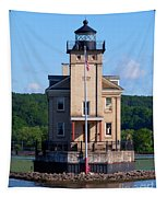 Rondout Lighthouse On The Hudson River New York Tapestry