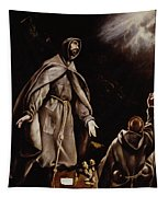 Saint Francis In Ecstasy Tapestry