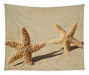 Seastars On Beach Tapestry