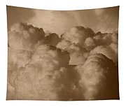 Sepia Clouds Tapestry