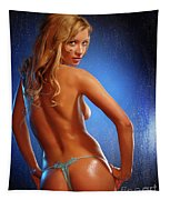 Sexy Young Woman Tapestry