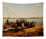 Shad Fishing On The Delaware River Tapestry
