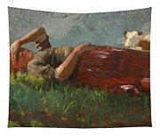 Shepherd Girl Resting Tapestry