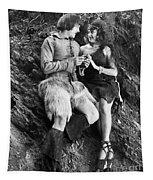 Silent Still: Man & Woman Tapestry