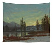 Snow In The Rockies Tapestry