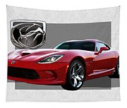 S R T  Viper With  3 D  Badge  Tapestry