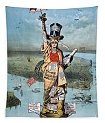 Statue Of Liberty Cartoon Tapestry