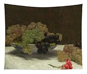 Still Life With Grapes And A Carnation Tapestry