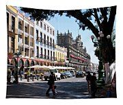 Streets Of Puebla 5 Tapestry